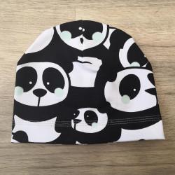 Tynka stylová čepice 44 - 46 cm - panda