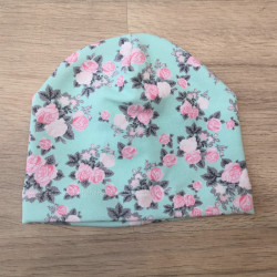 Tynka stylová čepice 42 - 44 cm - růže