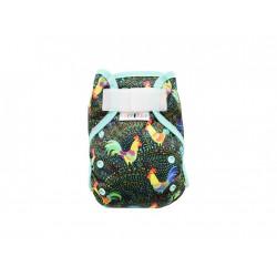 Breberky novorozenecké svrchní kalhotky s křidélky SZ - Kohouti mint gumička