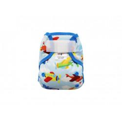 Breberky novorozenecké svrchní kalhotky s křidélky SZ - Letadla modrá gumička