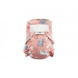 Breberky kalhotková plena na suchý zip - Zajíček Ušáček růžová