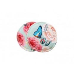Breberky vložky do podprsenky -  Motýlek na růži (bavlna)