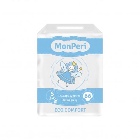 MonPeri dětské jednorázové pleny Eco Comfort S (3-6kg) 66ks