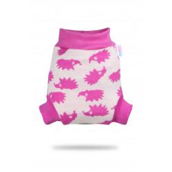 Vlněné svrchní kalhotky Petit Lulu - Růžoví ježci S
