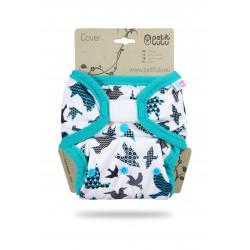 Petit Lulu Novorozenecké svrchní kalhotky - Tyrkysoví ptáčci