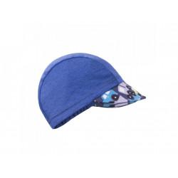 Unuo funkční čepice s kšiltem UV 50+ - autíčka tm. modrá XS