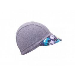 Unuo funkční čepice s kšiltem UV 50+ - autíčka šedá XS