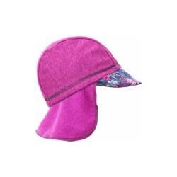 Unuo funkční čepice s kšiltem UV 50+ - Květinky šedá S