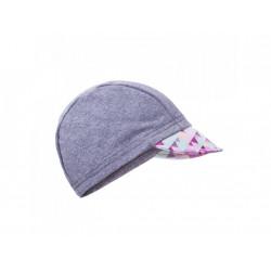 Unuo funkční čepice s kšiltem UV 50+ - Mini trojúhelníčky holčičí, šedá M