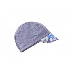 Unuo funkční čepice s kšiltem UV 50+ - Mini trojúhelníčky klučičí, šedá S