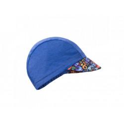 Unuo funkční čepice s kšiltem UV 50+ Rybky a rybičky, tm. modrá XS