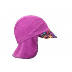 Unuo funkční čepice s kšiltem a plachetkou UV 50+ - Rybky a rybičky, malinová S