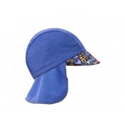 Unuo funkční čepice s kšiltem a plachetkou UV 50+ - Rybky a rybičky, tm.modrá M