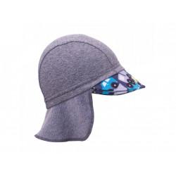 Unuo funkční čepice s kšiltem a plachetkou UV 50+ - Autíčka, šedá M