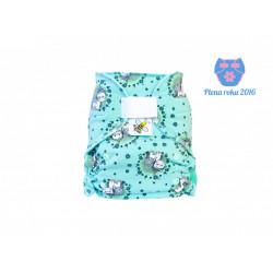 Majab kalhotková plenka novorozenecká SZ - Jednorožci uvnitř mentol