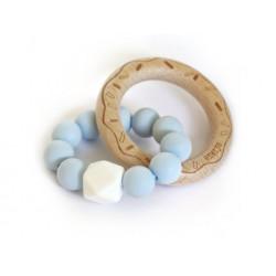 Mimijo silikonové kousátko - Světle modrý donut