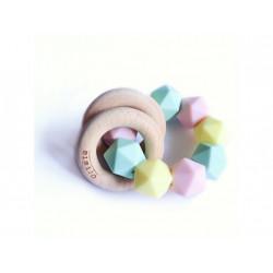 Mimijo silikonové kousátko chrastící 2v1 - Linda