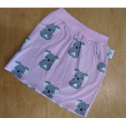 Tea's Create sukně s kapsami - Koala na růžové