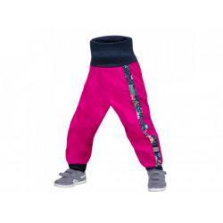 Unuo Softshellové kalhoty s fleecem Street vel. 74/80 - Květinky