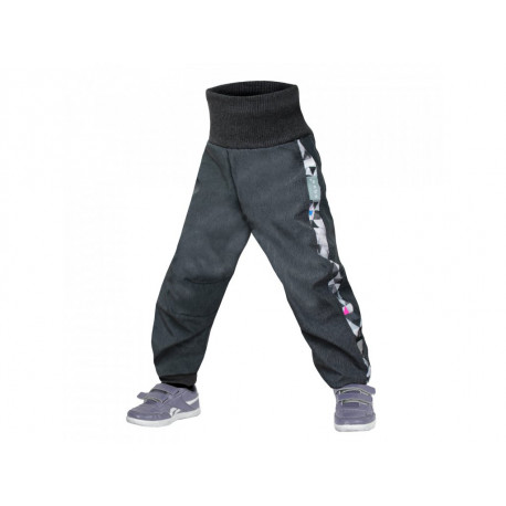 Unuo Softshellové kalhoty s fleecem Street vel. 98/104 - Antracitová Metricon holka