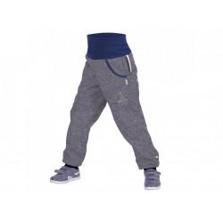 Unuo Softshellové kalhoty s fleecem vel. 104/110 - Melír šedý
