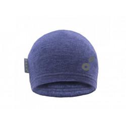 Unuo teplákovinová čepice Šedý melír + REFLEXNÍ EVŽEN - XS