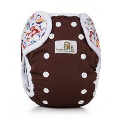 Bamboolik svrchní kalhotky DUO PAT - Čokoláda + hračky