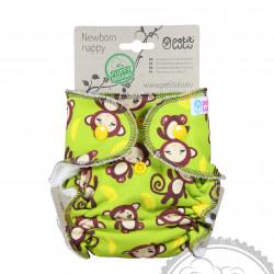 Petit Lulu novorozenecká plenka Fluffy Organic na patentky - Monkey Business