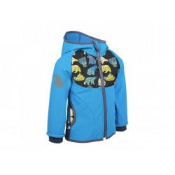 Unuo Softshellová bunda s fleecem vel. 104/110 - Souhvězdí medvěda tyrkysová