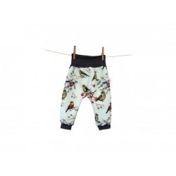 Breberky softshellové kalhoty vel. 80/86 - Ptačí svět mint