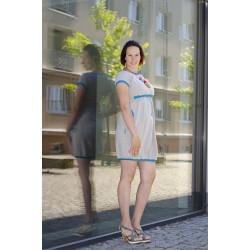 Made by Zuz kojící šaty - šedá/Smaragd S