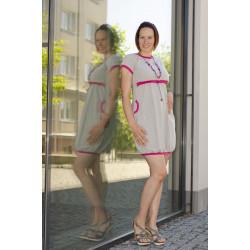 Made by Zuz kojící šaty - šedá/korálová S