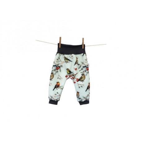Breberky softshellové kalhoty vel. 68/74 - Ptačí svět mint