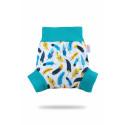 Petit Lulu pull-up svrchní kalhotky - Tyrkysová peříčka L