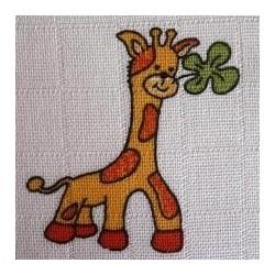 Čtvercová plena 70x70 cm - potisk Žirafa