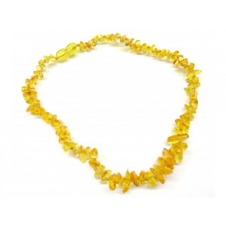 BM Jantarové korálky pro děti - Přírodní citronové bezpečnostní