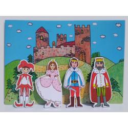 Marionetino Královská sada - loutky, kulisy, pozadí