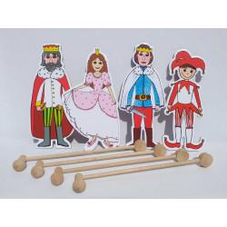 Marionetino Královská sada I, Kašpárek - postavy, tyčky