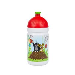 Zdravá lahev lahev Krtek a jahody 0,5l - červené
