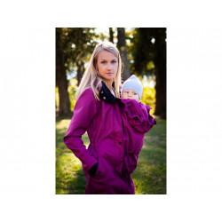 Loktu She Softshellový kabát na nošení děti - malinový melír vel. 38