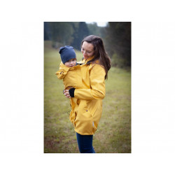 Loktu She Softshellový kabát na nošení děti - žlutý melír vel. 34