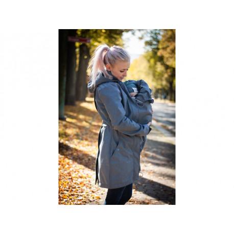 Loktu She Softshellový kabát na nošení děti - šedomodrý melír vel. 36