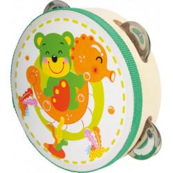 Small foot tamburína Funny medvěd