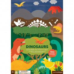 Petit Collage znovu použitelné samolepky se scénou Dinosauři