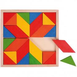 Bigjigs  dřevěná mozaika barevná