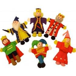 Bigjigs prstoví maňásci pohádkové postavičky z království