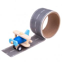 Bigjigs Toys lepící páska runway s letadlem