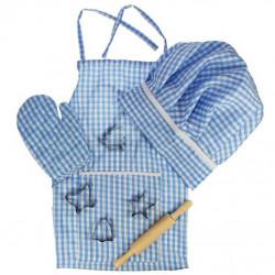 Bigjigs Toys modrý set šéfkuchařky