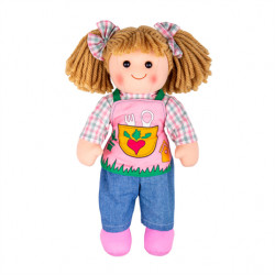 Bigjigs Toys látková panenka Elsie 34 cm